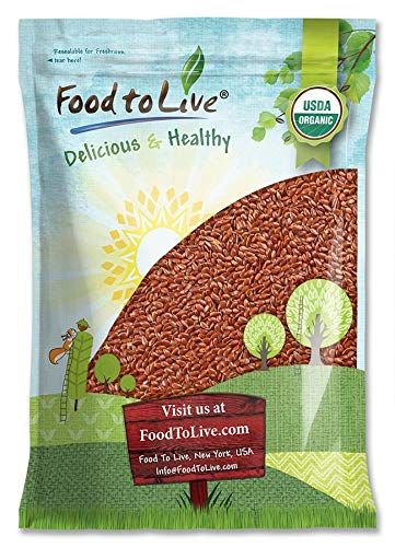 Organic Brown Flax Seeds, 5 Pounds