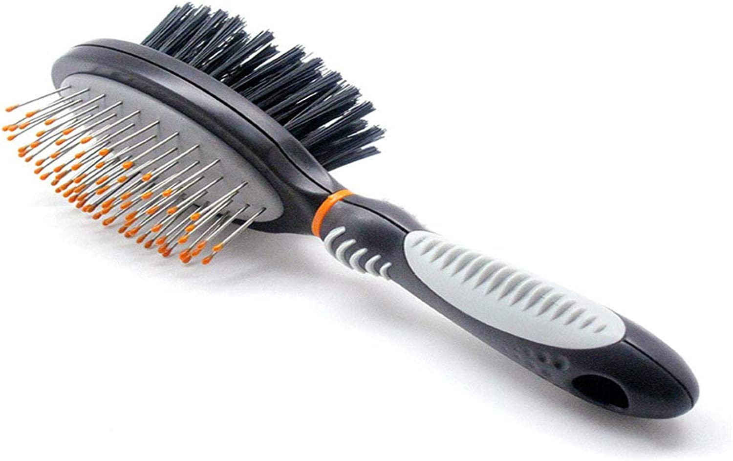DoubleSided Pet Brush for Grooming Massaging Dogs, Cats Other Animals – Fur Detangling Pins Coat Smoothing Slicker Bristles, Double The Brushing Groom Power in One Tool
