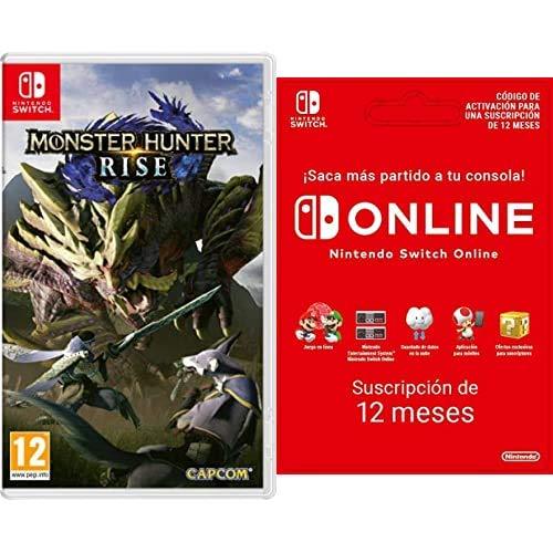 Monster Hunter Rise (Nintendo Switch) + Nintendo Switch Online - 12 Meses (Código de descarga)