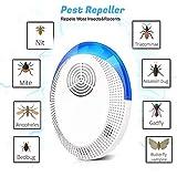 2020最新の超音波害虫リペラー、プラグイン屋内電子生体波、効果的に屋内スパイダー、マウス、ゴキブリ、バグ、蚊、その他の小さなバグを撃退