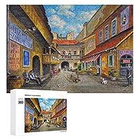 油絵古い教会 300ピースのパズル木製パズル大人の贈り物子供の誕生日プレゼント