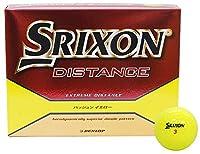 DUNLOP(ダンロップ) ゴルフボール SRIXON DISTANCE 1ダース(12個入り) パッションイエロー