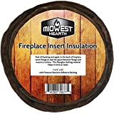 Midwest Hearth Fireplace Insert Insulation 10' Roll w/Self Adhesive Backing