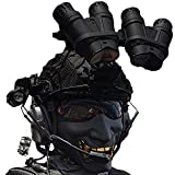 Juegos de Máscaras Casco Táctico, Equipo Al Aire Libre con Auriculares & Prismáticos Militares &...