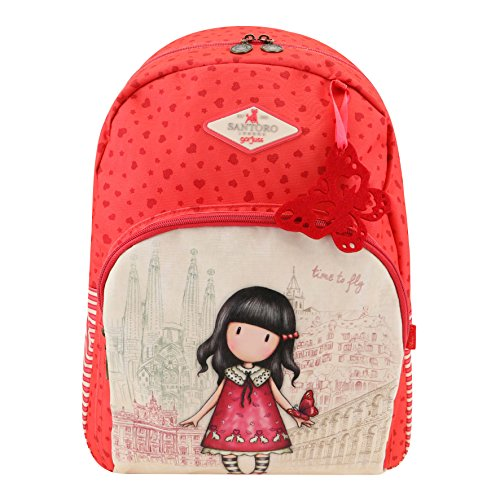 Gorjuss Cityscape Time to Fly Double Zip Rucksack