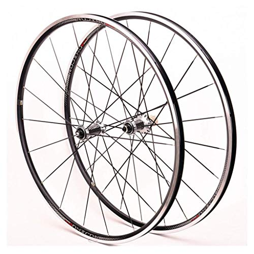 TYXTYX Juego de Ruedas de Bicicleta 700c V/C - Freno, DTXT-8.0-R2.0, Compatible con neumáticos 23C / 25C / 28C Llanta de Cassette de Velocidad Compatible con 8/9/10/11
