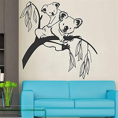 WERWN Arte Creativo Animal Koala Árbol Etiqueta de la Pared Decoración de la habitación de los niños Regalo