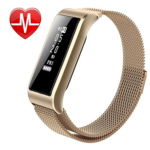 YK WATCH Multifunzione Orologio Intelligente Cardiofrequenzimetro Pressione sanguigna Ossigeno nel Sangue Monitoraggio del Sonno,Gold