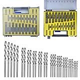 Juego de brocas CHENKEE 150 brocas de acero de alta velocidad para brocas de 0,4 mm a 3,2 mm, brocas multiusos adecuadas para metal de hierro fundido, aleación de aluminio y plástico