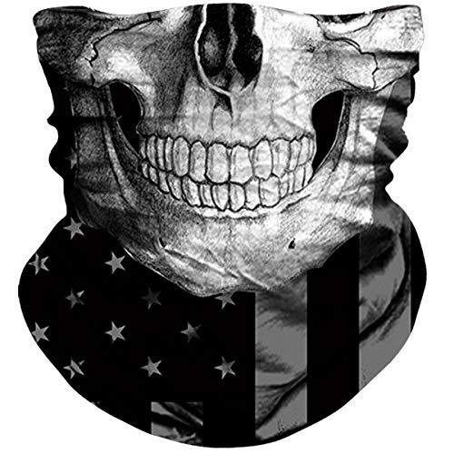 NTBOKW Skull Face Mask Bandana Neck Gaiter for Sun Dust Wind Protection Mask for Riding Motorcycle Cycling Fishing Hunting Summer Seamless Bandana 3D Skeleton Tube Mask for Men Women (Skull Mask 0152)