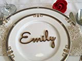 Wood wedding place name settings Wooden laser cut names Place cards Birthday Parties Event Personalized Christmas table Rustic Escort cards Custom signs Guest names Xmas tags Calligraphy Formal dinner