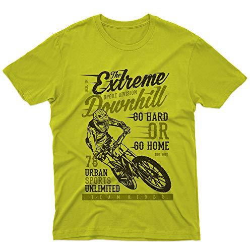 Fm10 Camiseta The Extreme Downhill bicicleta MTB Mountain Bike BMX Sport verde lima Small