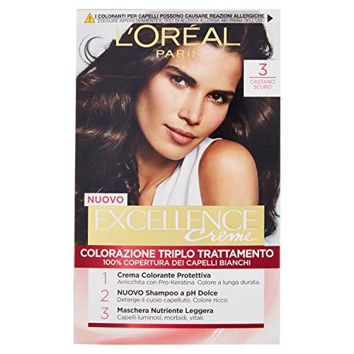 Haarfärbemittel Excellence Creme N 3 dunkel braun