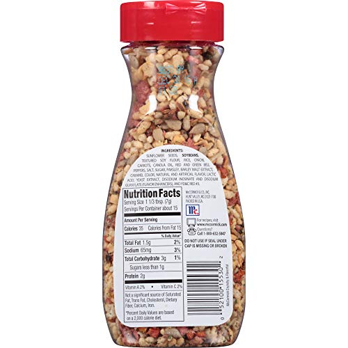 McCormick Salad Toppins, Crunchy & Flavorful, 3.75 oz (5 Pack)