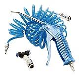 KIT Manguera, Pistola Sopladora y Racor 1/4' Neumático para Compresor de Aire Comprimido · 5 Metros