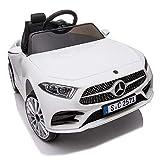 crooza Mercedes-Benz CLS350 Kinderauto Weiss Kinder Elektro Elektrofahrzeug mit Fernbedienung mp3,...