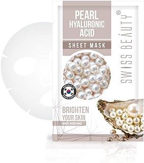 SWISS BEAUTY Sheet Mask, Pearl-Hyaluronic, 22 ml