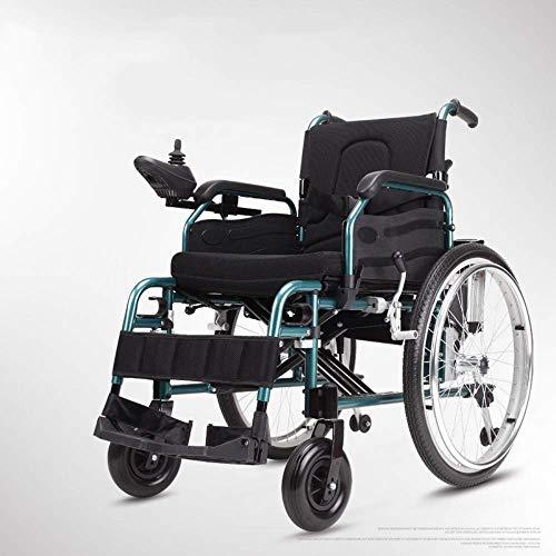 Wohnaccessoires für ältere Menschen Behinderte Langlebig zusammenklappbar Krafttransport Elektrorollstuhl Klappbarer Mobilitätsstuhl Tragbarer automatisierter motorisierter Rollstuhl Doppel-Lithium