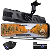 NikoMaku Mirror Dash Cam Front and Rear Backup Camera OEM Design Split Front Camera Super HDR Full Touch Screen Rear View Mirror Camera 170° Wide Angle Dual Cameras Waterproof ASX Pro