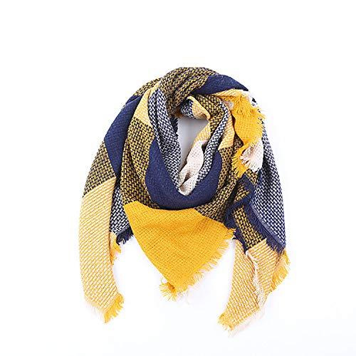Bakicey dames sjaal XXL warme zachte gebreide sjaal ruiten wintersjaal herfstsjaal wolsjaal vrouwen dekensjaal halsdoek scarf poncho cape