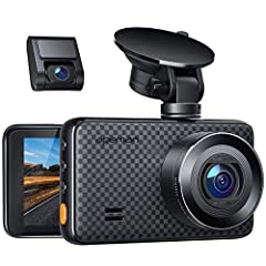 ULTRA HD RESOLUTION - With WQHD 2688*1520P@30FPS max, 1440P front & 1080P rear dual lens, capture the roads simultaneously in super clear definition. Equipped with 170° wide angle for dual cameras monitors all directions without visual blind zone. RE...
