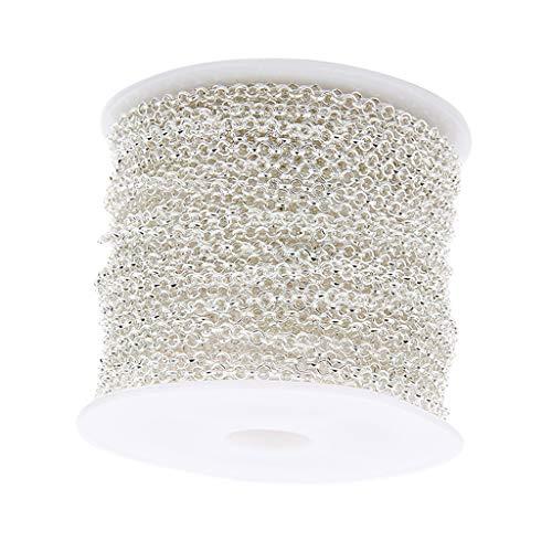 chiwanji 3 Piezas 10 Yardas/Rollo de Oro Pulsera Collar Cadenas Eslabones Clave para La Fabricación de Joyas