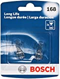 2012 Ford Fusion License Plate Light Bulbs - Bosch 168 Long Life Upgrade Minature Bulb, Pack of 2