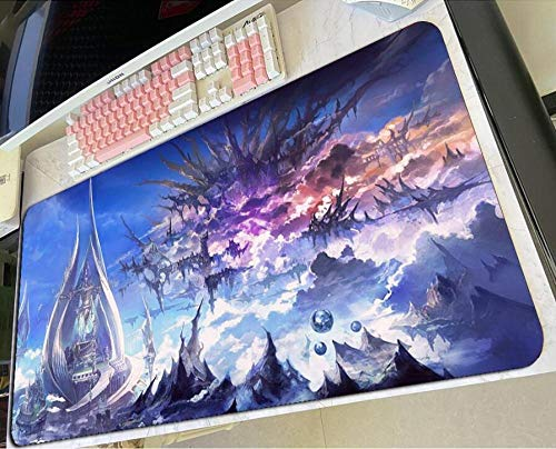 Gaming Mouse Pads Final Fantasy XIV Mousepad Gaming Mouse Pad Gamer Mat Colourful Computer Desk Padmouse Keyboard Gorgeous Play Mats C(40×90Cm)