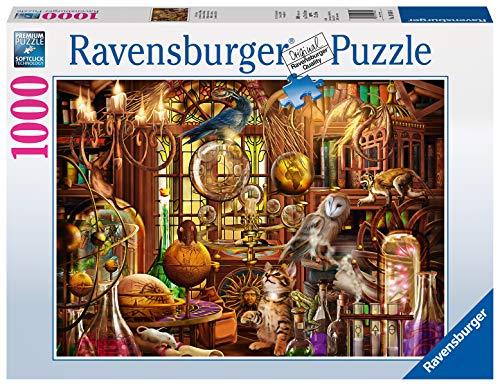 Ravensburger Puzzle 1000 Pezzi, Laboratorio di Merlino, Collezione Fantasy, Jigsaw Puzzle per Adulti, Puzzle Ravensburger - Stampa di Alta Qualità