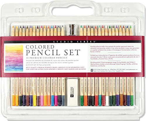 Studio Series Colored Pencil Set (Set of 30) by Peter Pauper Press (1-Feb-2014) Hardcover