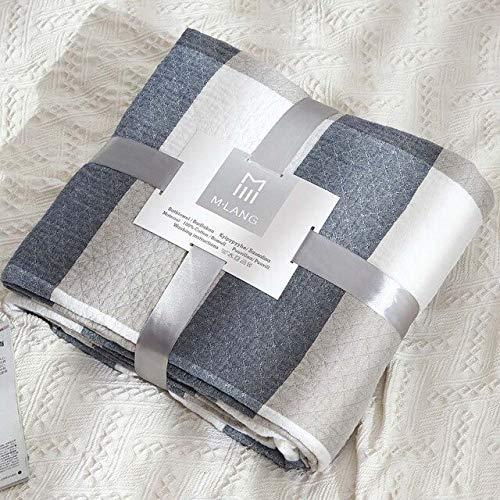 RAQ Grid Bank fauteuil Gebreide deken Coverlet Home Warm Bed Cover sprei Office Bank Quilt Plaid 150x200m