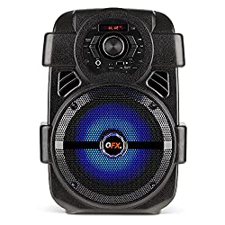 in budget affordable QFX PBX-8 8 inch Rechargeable Party Speaker, Black