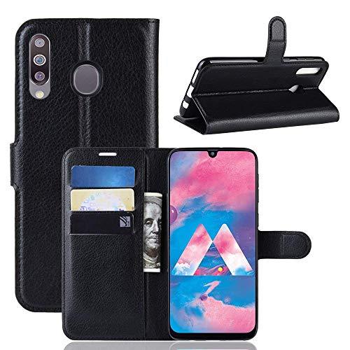 Capa Capinha Carteira 360 Para Samsung Galaxy M30 Tela De 6.4Polegadas Case Couro Flip Wallet - Danet (Preto)