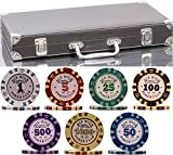 320 Piece Pro Poker Clay Poker Set - 2X Plastic Cards with Cutting Cards - Reinforced case - Free Poker Felt (Heavy Weight Clay Chips - 320pcs, Model B2)