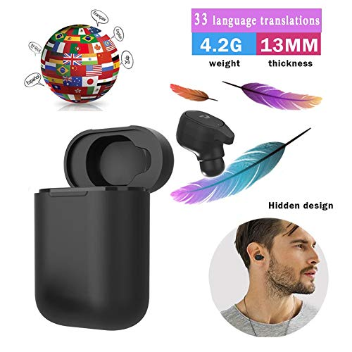 NIUJF Portable Bluetooth Wireless Voice Translation Headset 33 Languages Translator Earbuds Instant Real Time...