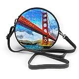 Jojoshop - Bolso bandolera de piel para mujer, diseño de puente dorado de San Francisco