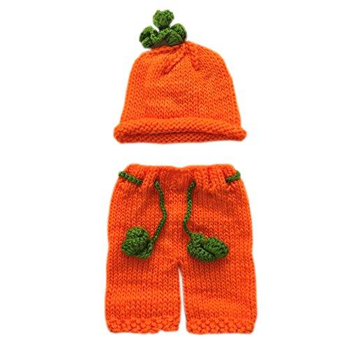 Pinbo Baby Boys Girls Photography Prop Crochet Halloween Pumpkin Hat Shorts