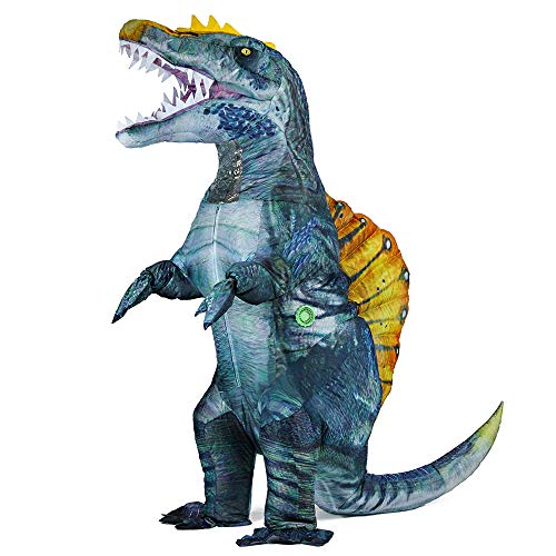 Newest Dinosaur Costume for Adults Inflatable Spinosaurus Costume Blow up Halloween Costumes...