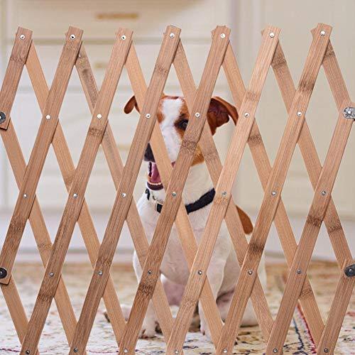 Letway Pet Expanding Holzzaun Tor, Mit Versenkbaren Design/Länge Ist 60-110cm / Ideal Für Türen, Wände, Treppen, Schlafzimmer, Esszimmer, Oder Überall Draußen. Comfortable