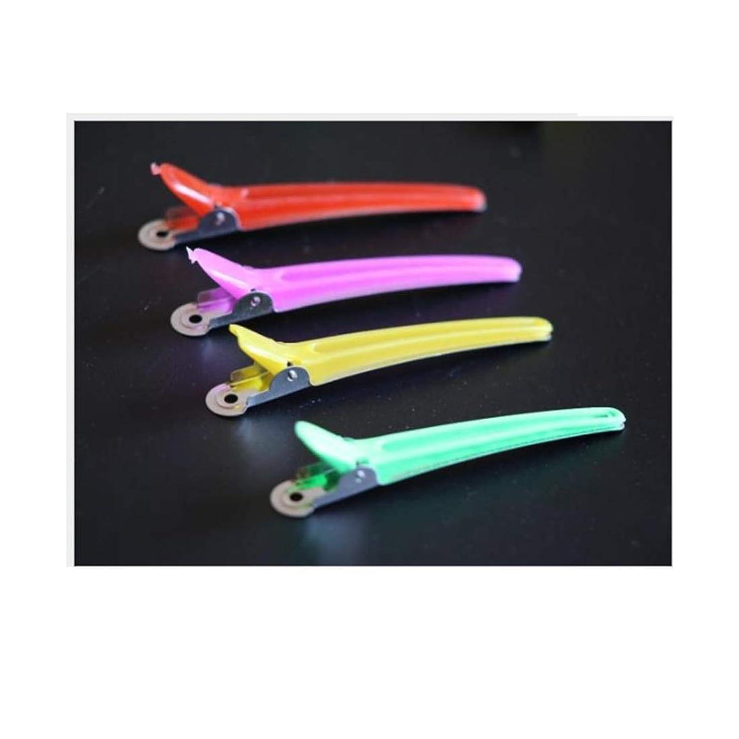 抵抗力があるオール例示する100個のヘアクリップ - プロの滑り止め多色プラスチックアヒルの歯は滑り止めの人間工学に基づいたデザインのヘアクリップ - 女性、子供、赤ちゃん、そして女の子のためのワニのヘアスタイリング。 ヘアケア (色 : Mutiple color)