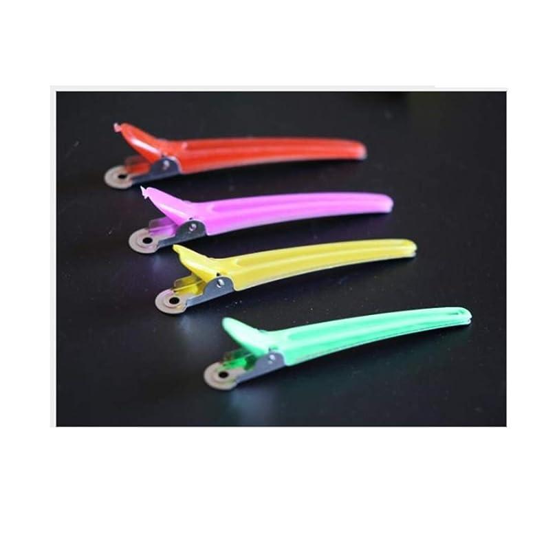 逮捕広げる通路CeSuoLiBengDi 100個のヘアクリップ - プロフェッショナルノンスリップマルチカラープラスチックダックの歯は、アンチスリップ人間工学に基づいたデザイン - 女性、子供、赤ちゃん、女の子+理想的な のためのワニのヘアスタイルで髪のクリップを弓。 (Color : Mutiple color)