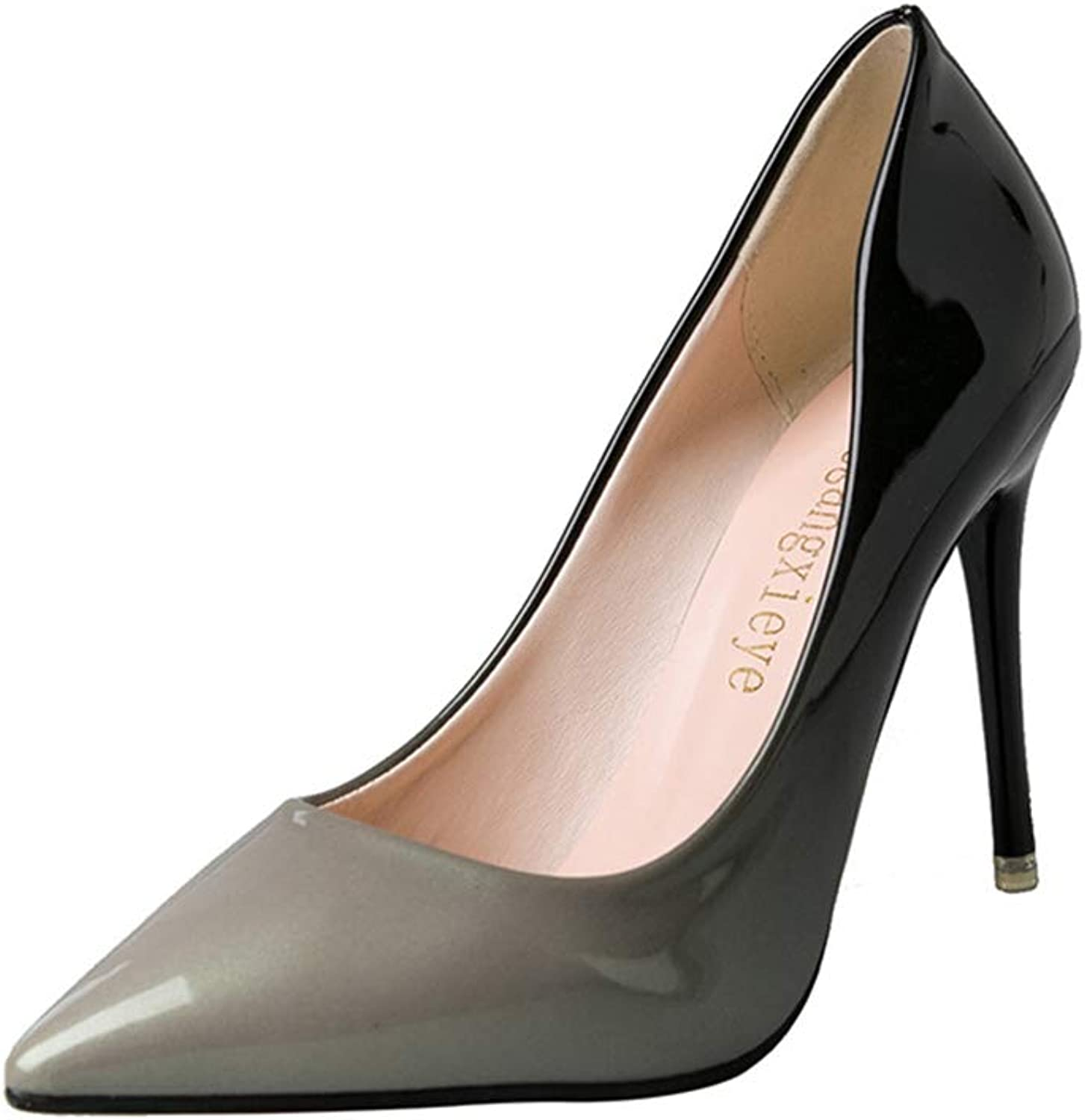 CHENSF Women's Classic Slip On Pointed Toe High Heel shoes
