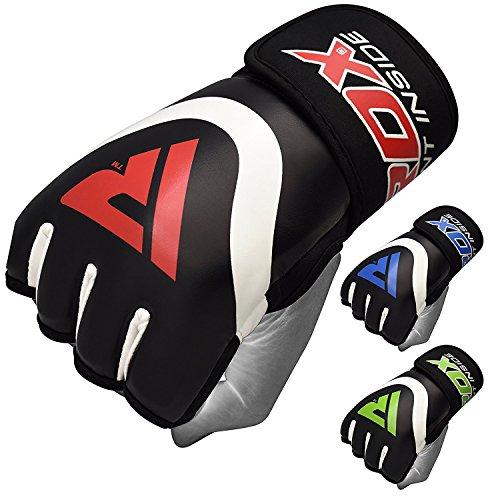 RDX Guanti Interni MMA Maya Leather Hide Guantoni da Pugilato Sparring Training Bag