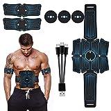 Sportmall Muscle Tonero de Tono Abdominal EMS Pulse Massager Equipo con batería para la Oficina en el hogar Fitness