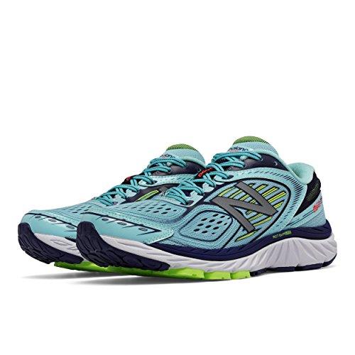 New Balance - Zapatillas de Atletismo para Mujer Azul Ozone Blue/Lime GLO