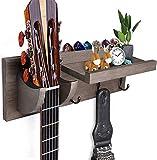 Guitar wall hanger mount Guitar Holder guitar wall stands with 3 key hooks guitar accessories (GRAY)