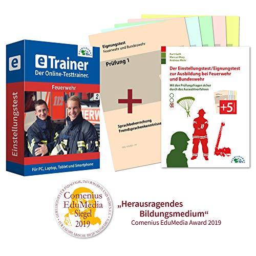 Einstellungstest Feuerwehr XXL – Online-Testtrainer + Buch + Prüfungshefte | Über 3.600 Aufgaben mit Lösungen: Deutsch, Mathematik, Allgemeinwissen, Technik, Logik, Konzentration… | Eignungstest üben