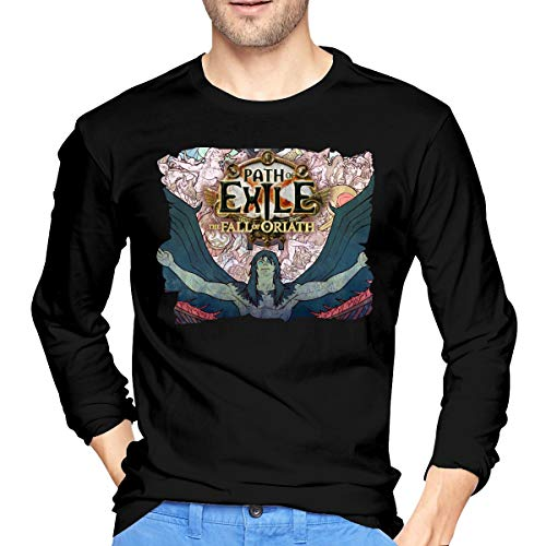 REBECCA GOULD Mens Cool Path of Exile The Fall of Oriath Long Sleeve T-Shirt XXL Black