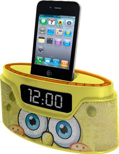 Portable, Nickelodeon Spongebob iPod Clock Radio (50262C-IPH) Style: Spongebob Consumer Electronic Gadget Shop