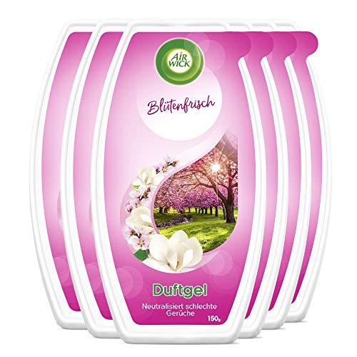Air Wick Duftgel – Klassisches Duftgel mit reichhaltigem Duft nach zarten Blumen – Duft: Blütenfrisch – 6 x 150g